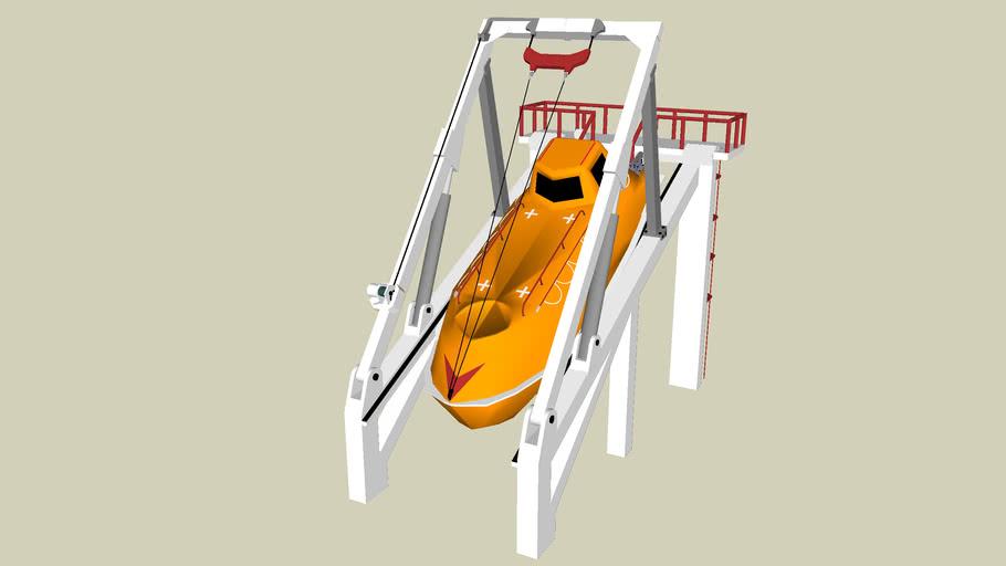 MKV 7 Freefall Lifeboat.