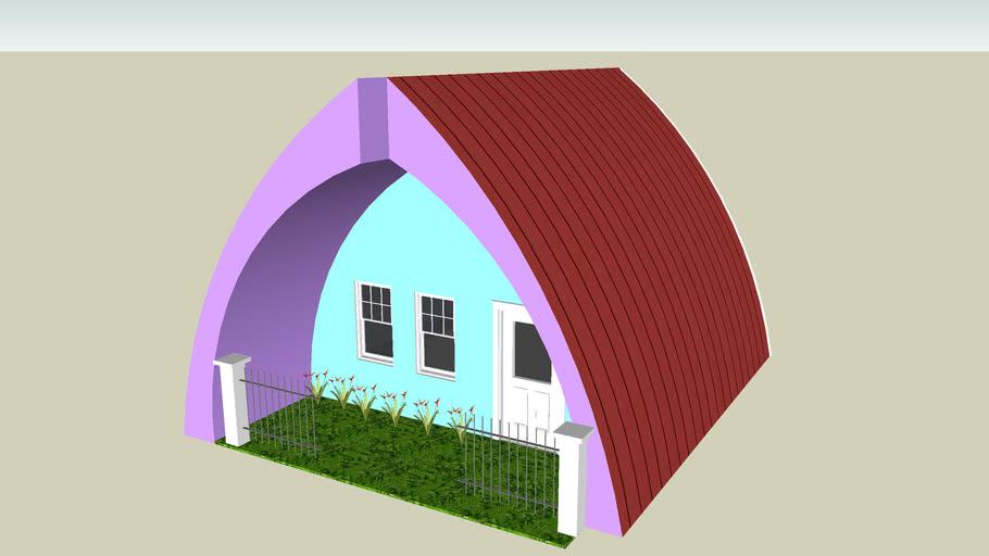 purple and blue house