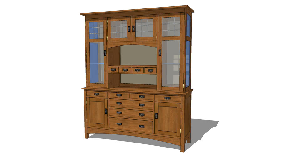 Arts and Crafts Mission China Cabinet