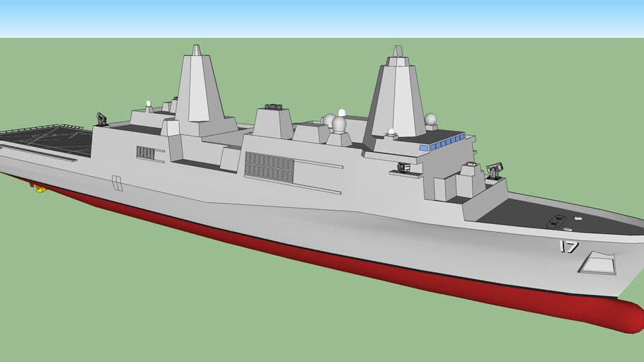 USS San Antonio class amphibious transport dock / サン・アントニオ級ドック型揚陸艦