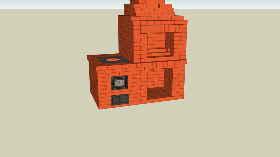 Masonry heater, печь камин, печка, печник, камин, мангал из кирпича, russian stove, kachelofen, fireplace, pechnik-pech-kamin.ru