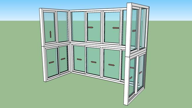 阳台铝塑窗