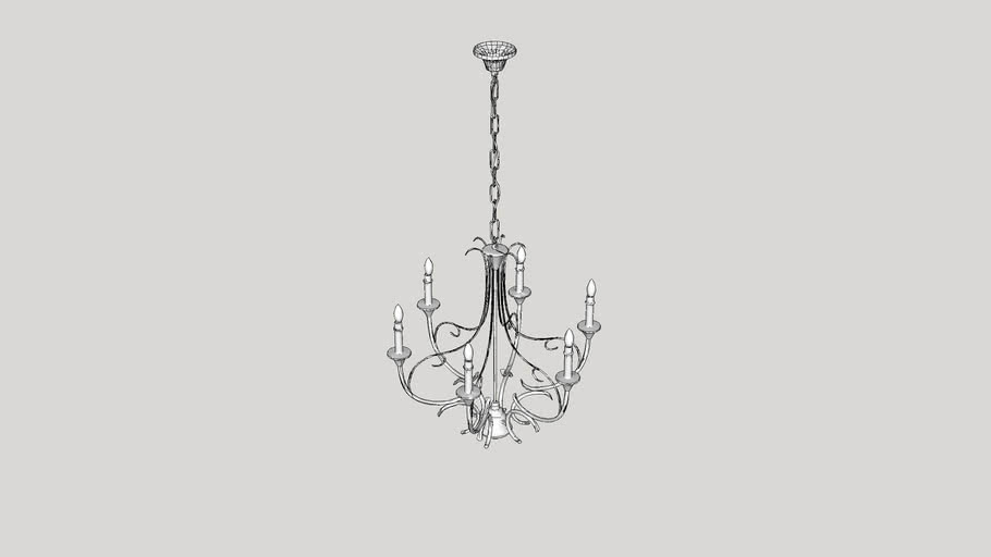Clarisse 6 Light Candle-Style Chandelier