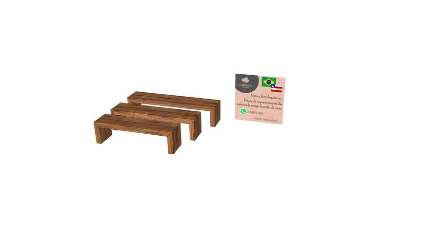 Banco de madeira Ilheus cabruca