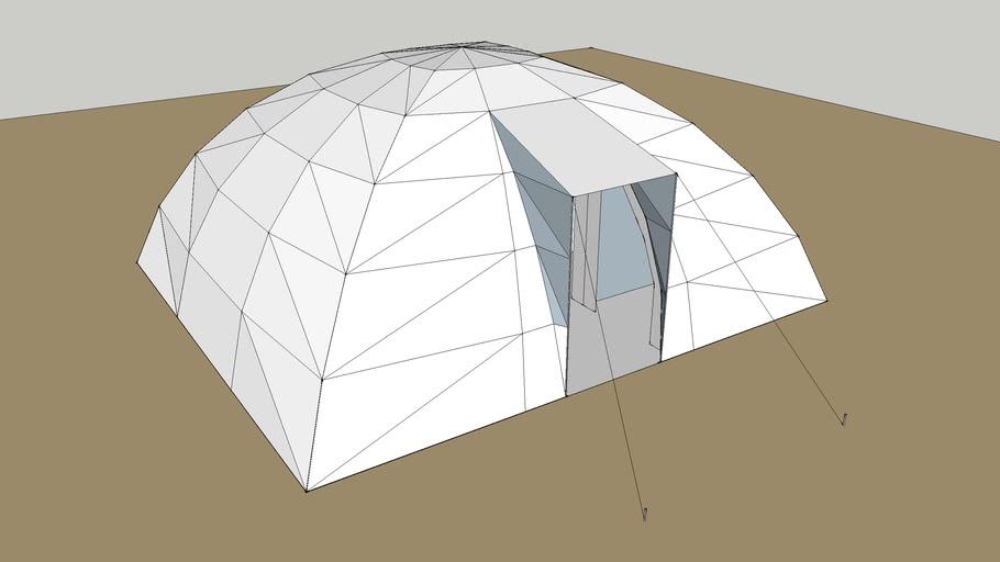 een draagbare tent, CAD