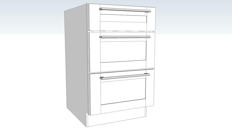 Base Three Drawer