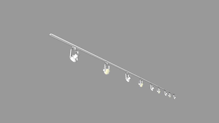 Track Lighting 9 Lights Warehouse
