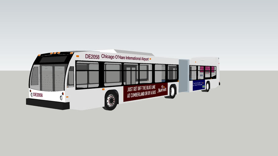 2013 novabus lfs articulated o'hare airport shuttle