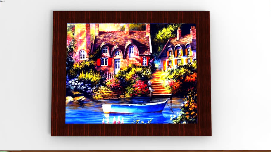Table Tablo Pano Landscape Manzara Picture Resim Painting Boyama