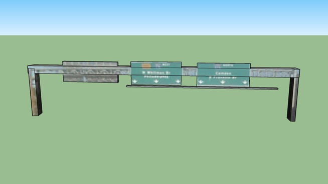 Highway Sign in Gloucester City, NJ 08030, USA