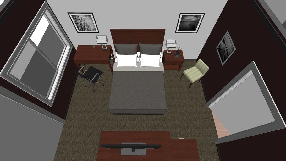Hotel Room Furniture_AG CAD Designs