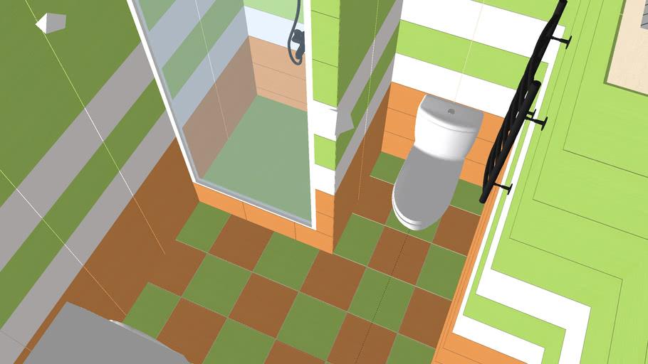 Green/Orange bathroom Ванная