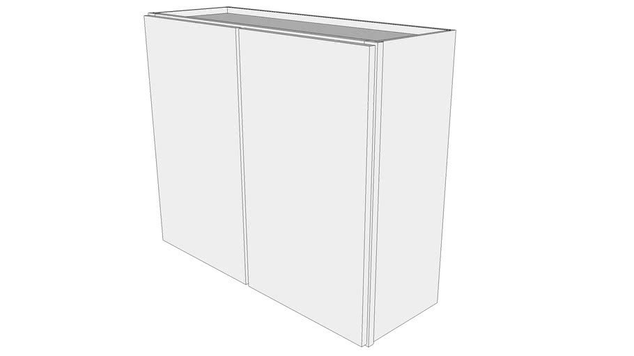 "Glenwood Wall Cabinet W3630 - 12"" Deep, Two Doors"