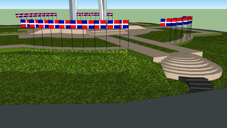La Plaza de la bandera de República Dominicana