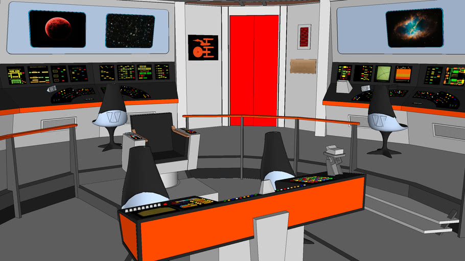Star Trek TOS Enterprise Bridge