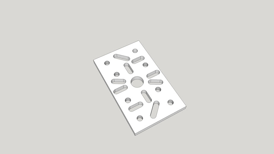 Template for Sparkfun ROB - 10335 Pan / Tilt Bracket Faceplate