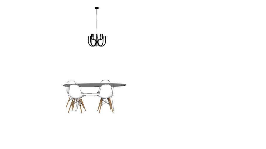 tavolo saarinen ovale | 3D Warehouse