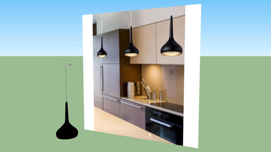 Lámpara Colgante Aluminio Negro (cocina) - VRAY