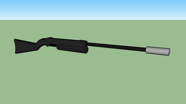 silenced rifle
