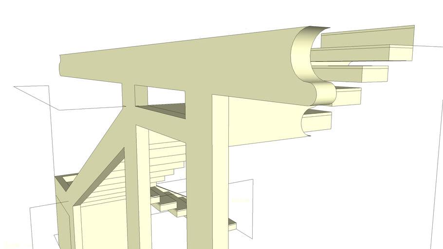 Escada degraus vasados