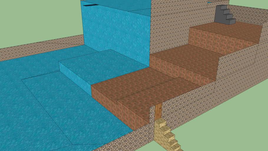 double swimming pool
