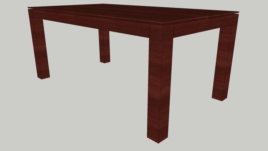 Mesa Refeição extensivel 1800 tampo madeira/vidro