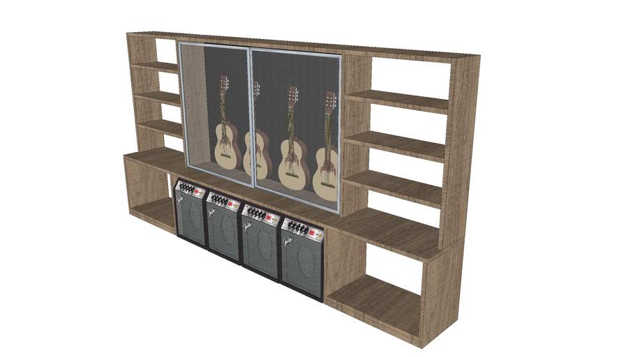 Guitar Storage Cabinet 3d Warehouse, Guitar Storage Cabinet