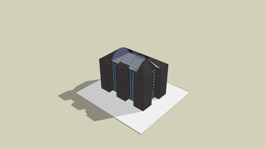 Black apartment building