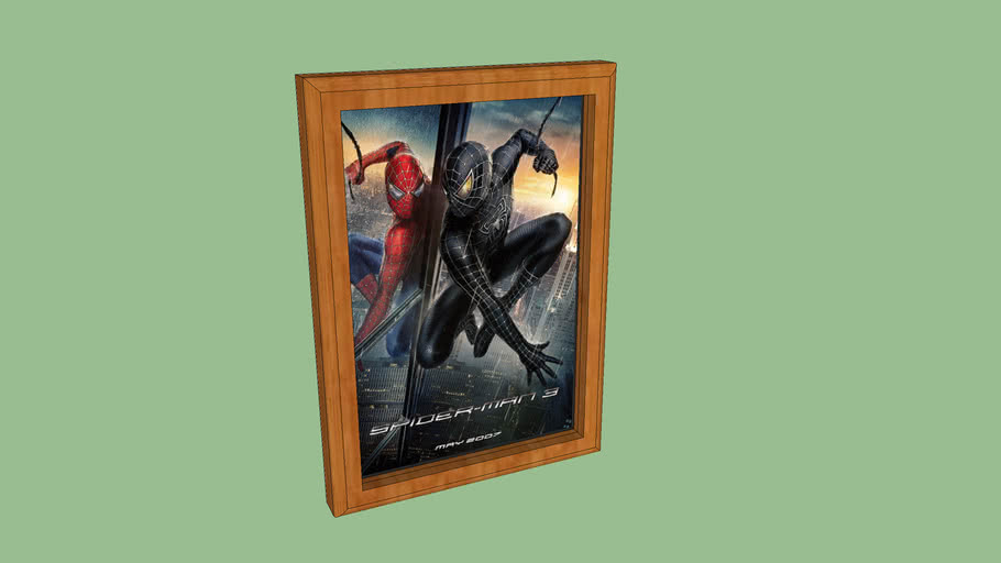 spiderman 3 wooden frame