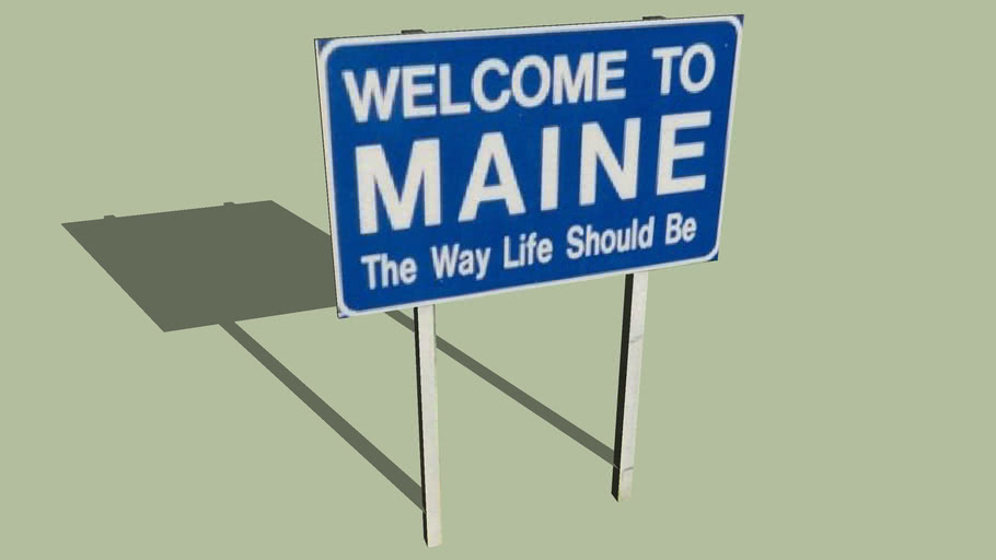 Welcome Sign Maine