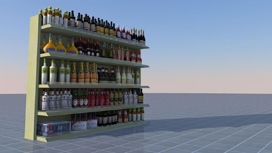 Alcohol department (supermarket)