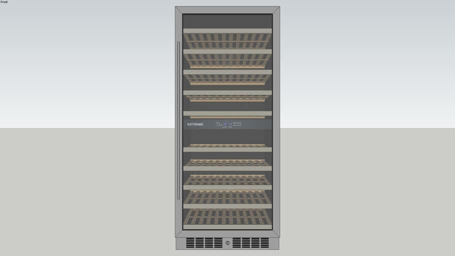 Adega 110 Garrafas Dual Zone Built-In