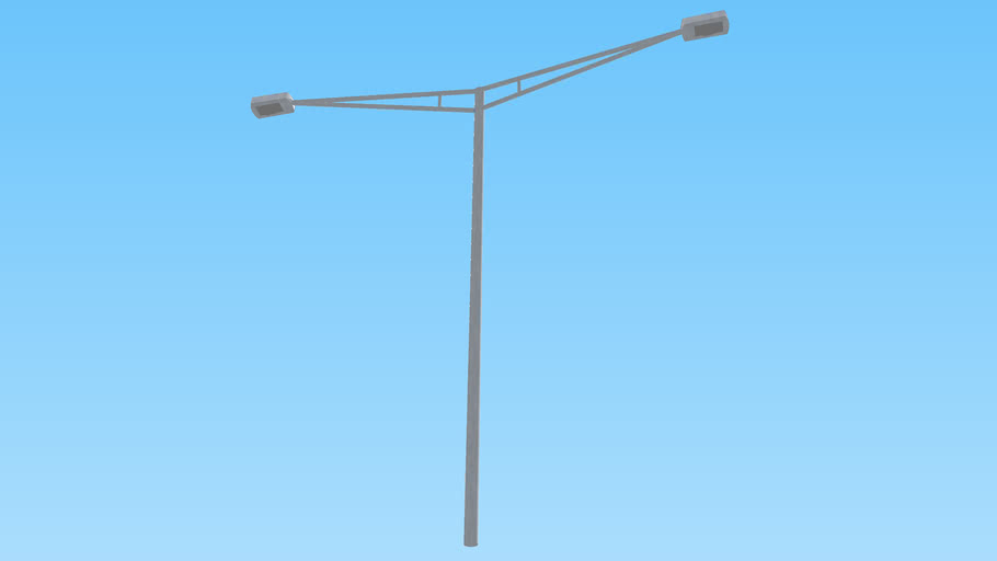 Double Metal Shined Street Light