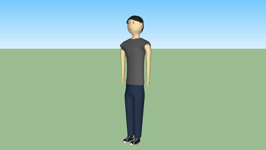 3d boy standing
