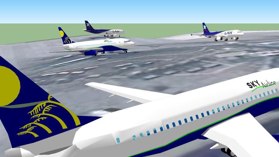 Aviones en el Aeropuerto Internacional de Santiago, Chile Parte 2