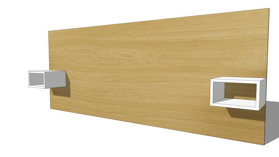 Austral Pro Tete De Lit 160 180 Avec Rangements Ref 180031 Prix 469 00 3d Warehouse