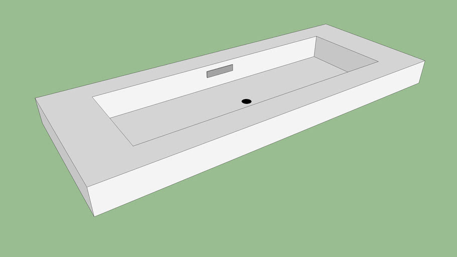 Neo Metro wall mounted solid surface basin