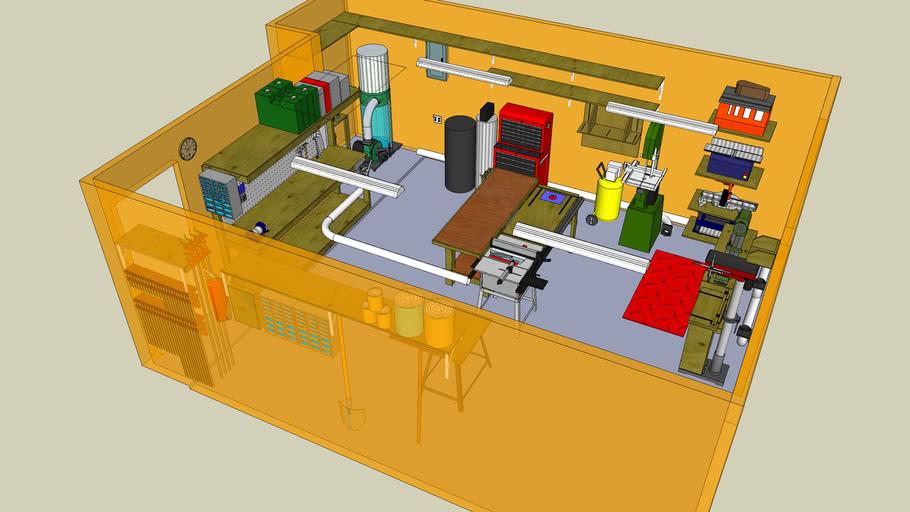 Garage Woodworking Shop Plan