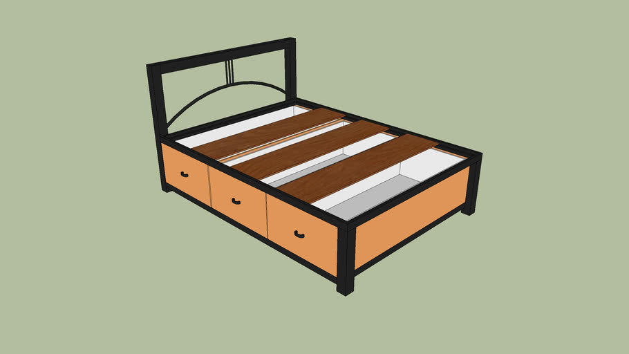 Soho Queen Size Bed with Drawers
