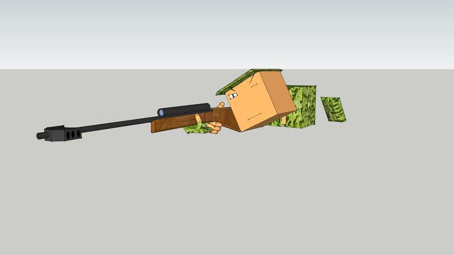 cube man sniper