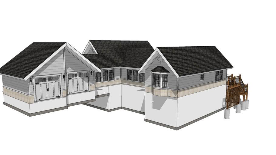 Modern Farm Single Family Home Design 3