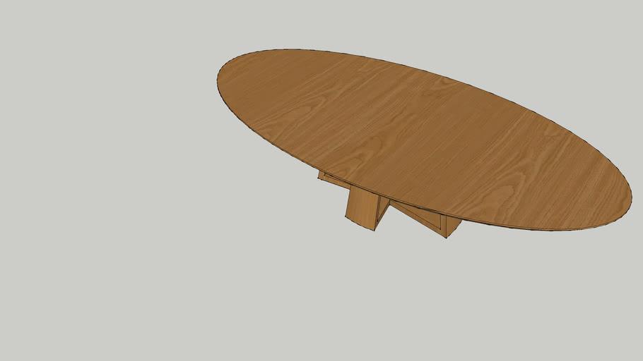 Table Dining Eliptical Malka 320x160x75_Louis Kazan_Casapronta