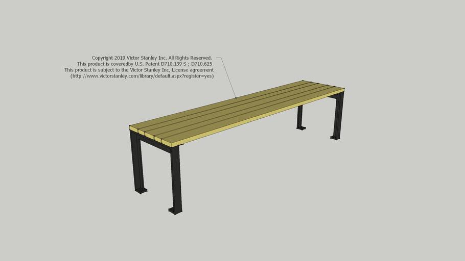 CAM-53-W Reverie 6ft Backless Wood Slat Bench
