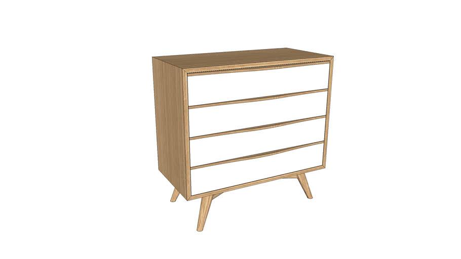 Commode sur-mesure en chêne 80x40xh78 / Dresser