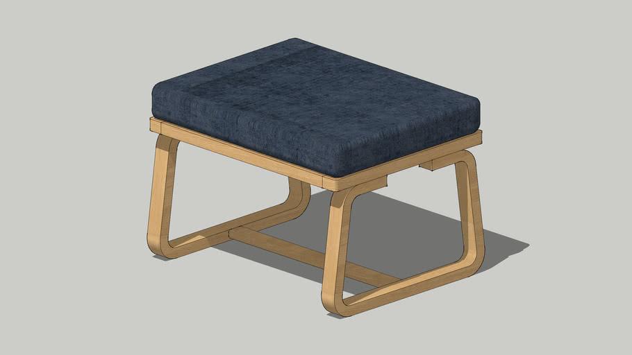 MUJI LIVING DINING BENCH 2 Blue cotton cover リビングでもダイニングでもつかえるベンチ・2