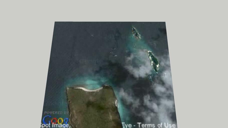 The islands around the Suddhadib Wreck (Hardeep Wreck)