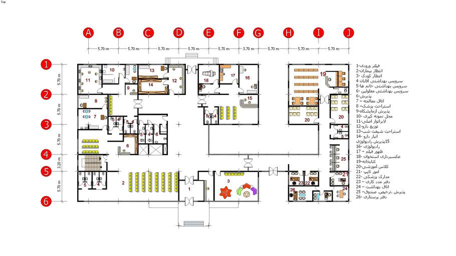 Furniture Plan clinic -sadegh-architectural design 4
