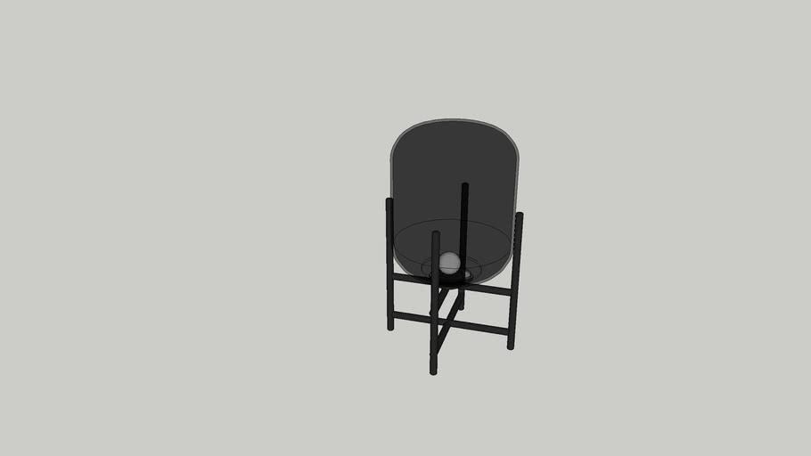 Voss 24 Table Lamp - Smoke + Black