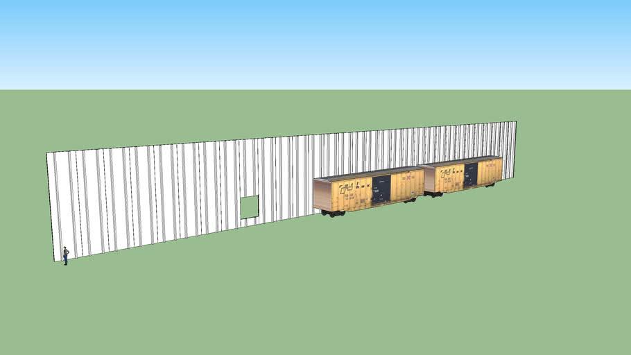 Concrete Tilt-Up Double T Warehouse Mockup Flat