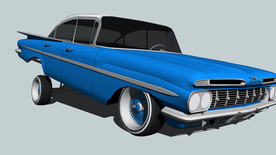1959 Chevy Bel Air Lowrider 3d Warehouse